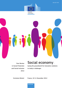 Peer Review on the Social economy - European Commission