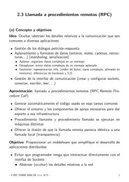 2.3 Llamada a procedimientos remotos (RPC)