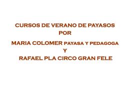 CURSOS DE VERANO DE PAYASOS POR