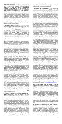 """""""AVISO DE PRIVACIDAD"""" DE KUMON INSTITUTO DE EDUCACIÓN"""