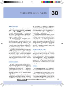 Mesotelioma pleural maligno