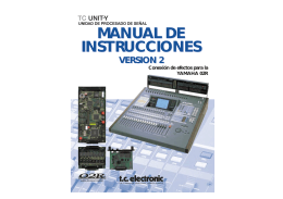 MANUAL DE INSTRUCCIONES MANUAL DE