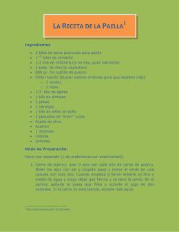 la receta de la paella 1