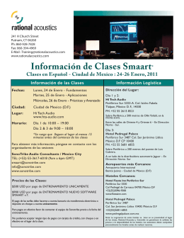 RA Class Flyer - Mexico City Jan 2011 Esp.indd