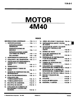 ENGINE Workshop Manual 4M4(W-E)