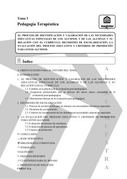 3 la evaluación del proceso educativo y criterios de