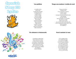 Spanish Song CD Lyrics Spanish Song CD Lyrics