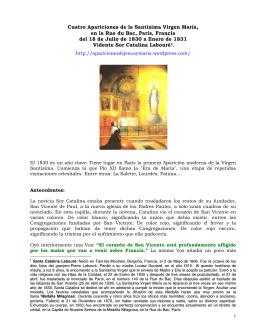 París, Francia - Apariciones de Jesús y María