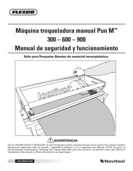 Máquina troqueladora manual Pun M™ 300 – 600 – 900