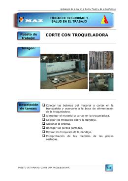 CORTE CON TROQUELADORA