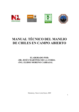 MANUAL TECNICO DEL PROCESO DE SIEMBRA DE CHILES Y