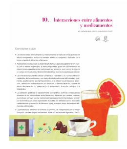 Capitulo 10. Interacciones entre alimentos y medicamentos.