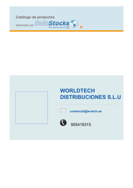 WORLDTECH DISTRIBUCIONES S.L.U