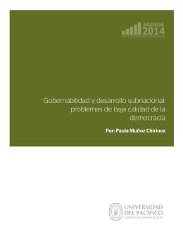 Gobernabilidad y desarrollo subnacional