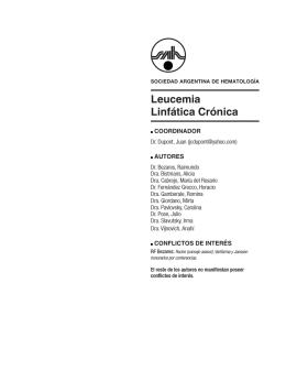 Leucemia Linfática Crónica - Sociedad Argentina de Hematología