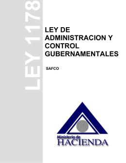 Ley de Administración y Control Gubernamentales