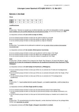 Lösungen Lesen Spanisch HT2 6j/B2 2010/11, 12. Mai 2011