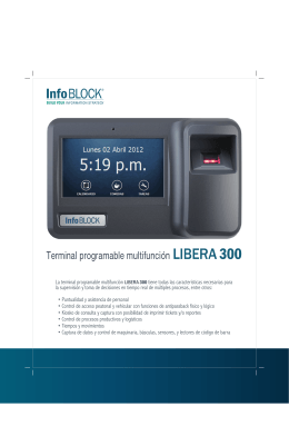 Terminal programable multifuncion LIBERA 300