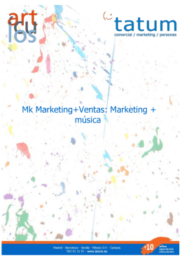 Marketing+Ventas: Marketing+mísica
