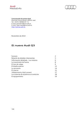 Dossier Nuevo Audi Q3 - Audi MediaServices España