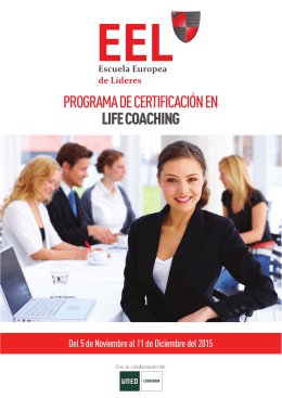 PROGRAMA DE CERTIFICACIÓN EN LIFE COACHING