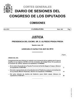 Diario de Sesiones de la Comisión de Justicia