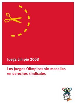 Juega Limpio 2008 Los Juegos Olímpicos sin