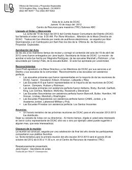 Acta de la Junta de DCAC Jueves 10 de mayo del 2012 Centro de