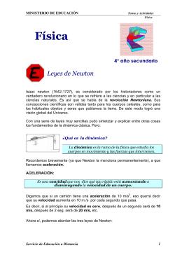FISICA 4° año-Leyes de Newton