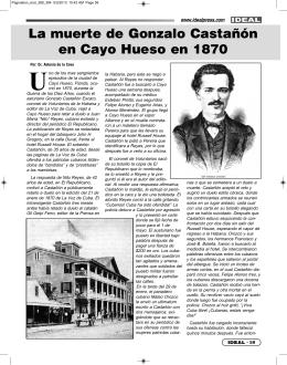La muerte de Gonzalo Castañón en Cayo Hueso en 1870