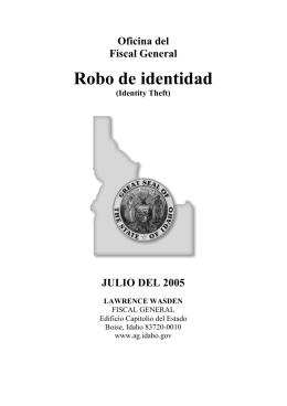 Oficina del Fiscal General Robo de identidad