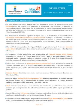 NEWSLETTER - Gobierno de Canarias