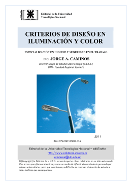 criterios de diseño en iluminación y color - edUTecNe