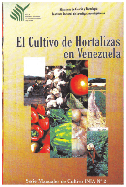 Manual Hortalizas INIA - Sistema de Informacion Agricola Nacional