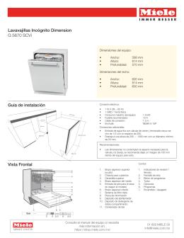 Lavavajillas Incógnito Dimension G 5670 SCVi Guía de instalación