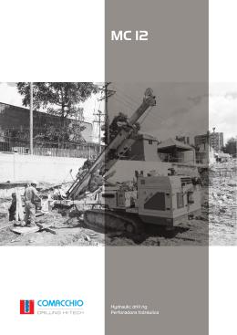 Hydraulic drill rig Perforadora hidráulica