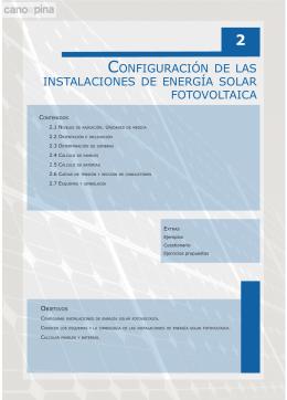 configuración de las instalaciones de energía solar
