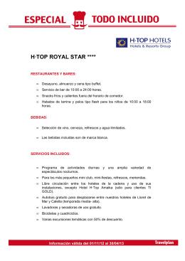 Hotel H·Top Royal Star