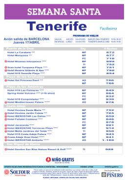 Tenerife - Viatges Berga