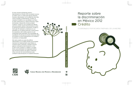 6. Reporte sobre la Discriminación en México 2012