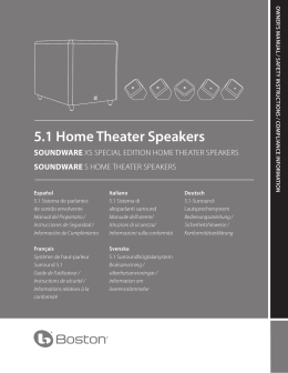 5.1 Home Theater Speakers SOUNDWARE