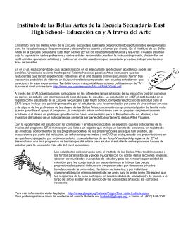 Instituto de las Bellas Artes de la Escuela Secundaria East High