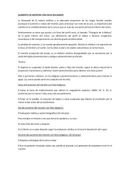 AUMENTO DE MENTON CON HILOS BULGAROS La