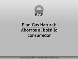 Plan Gas Natural - Government Development Bank for Puerto Rico