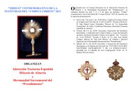 Adoración Nocturna Española Diócesis de Almería y Hermandad