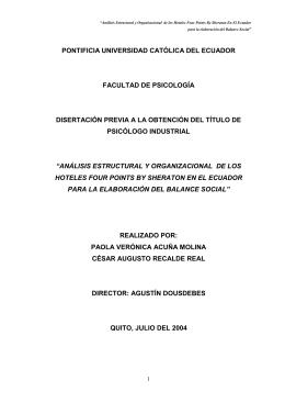pontificia universidad católica del ecuador facultad de psicología