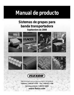 Sistemas de grapas para banda transportadora