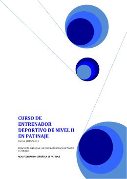 CURSO DE ENTRENADOR DEPORTIVO DE NIVEL II EN PATINAJE