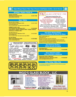 RIGO`S GLASS BLOCK , LLC
