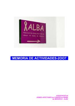 MEMORIA DE ACTIVIDADES-2OO7